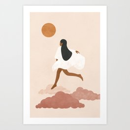 Don't trip over what's Behind You Art Print