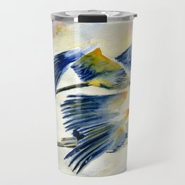 Flying Together - Great Blue Heron Travel Mug