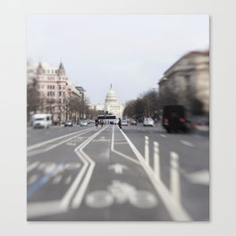 In the Streets of DC Canvas Print