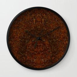 Azteca II Warm Browns & Golds Wall Clock