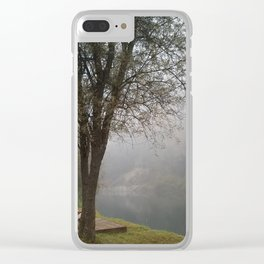 Foggy Horizons Clear iPhone Case