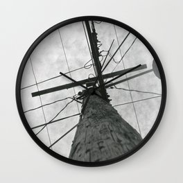 Looking Upwards Black & White Photography Wall Clock