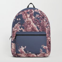 Spring Pink Cherry Blossom Photography Print Backpack