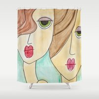 best friends Shower Curtains featuring Best Friends by Shanii Renay