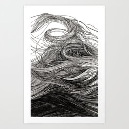 I lay beside a lake full of cool thick black water Art Print