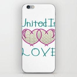 United In Love iPhone Skin
