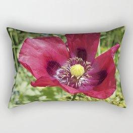 Pretty Purple Poppy Flower Rectangular Pillow