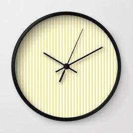 Buttercup Stripes Wall Clock