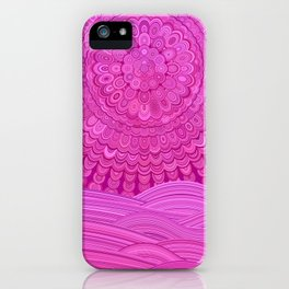 Hot Pink Ocean Mandala iPhone Case