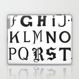 Cemetery Alphabet Laptop & iPad Skin