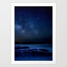 Dark Night California Coastal Waters Art Print
