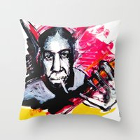 allyson johnson Throw Pillows featuring Robert Johnson by Matteo Lotti