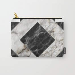 Gold foil white black marble #3 Carry-All Pouch