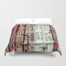 The heart of Bryggen Duvet Cover