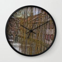 River Blau - Ulm ( Fischerviertel ) Wall Clock