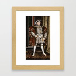 ortrait of Henry VIII, author unknown Framed Art Print