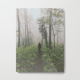 Through The Mist • Appalachian Trail Metal Print