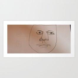 Weird Man Art Print