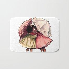 Vintage Children Girls with Umbrellas Bath Mat