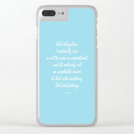 Obligation Clear iPhone Case