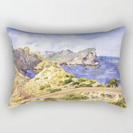Serpentine road to the lighthouse Rectangular Pillow