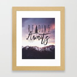 Reading Awaits - Purple Mountains Framed Art Print