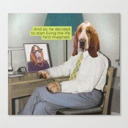 Basset Hound Mid Century Dog Canvas Print
