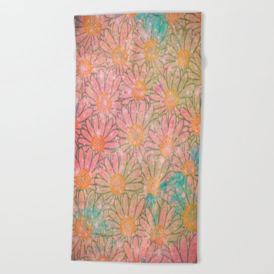 marguerite-128 Beach Towel