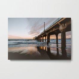 MANHATTAN BEACH PIER II Metal Print