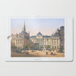 Paris art print Paris Decor office decoration vintage decor PALAIS DE JUSTICE of Paris Cutting Board