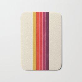 vhs video cassette retro stripes Bath Mat