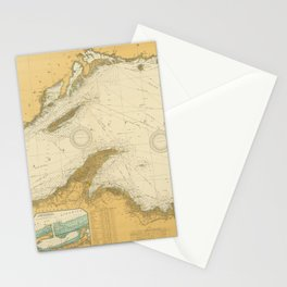 Vintage Map of Lake Superior (1832) Stationery Cards
