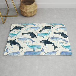 Whales, Orcas & Narwhals Rug