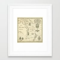 world maps Framed Art Prints featuring Old Maps by tanduksapi