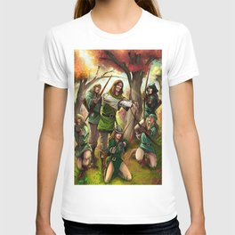 Robin Hood and his Merry Women T-shirt