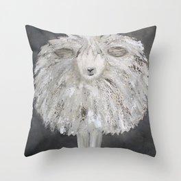 Wooly Sheep Throw Pillow