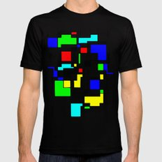 Homage to Piet Mondrian LARGE Mens Fitted Tee Black