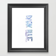 dark blue  Framed Art Print