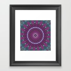purple and blue kaleidoscope Framed Art Print