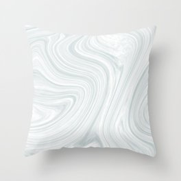 marbled silt Throw Pillow