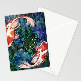 Koi pond Stationery Cards