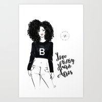 Love Baby Hair & Afros Art Print