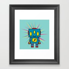 Vintage Kid Robot Framed Art Print