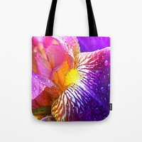 iris Tote Bags featuring Iris by Robin Curtiss