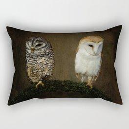 Barn And Tawny Owl Rectangular Pillow