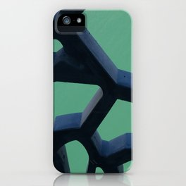 Grid and sea view iPhone Case