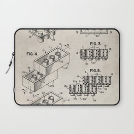 Legos Patent - Legos Brick Art - Antique Laptop Sleeve