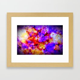 Purple Tie Die Framed Art Print