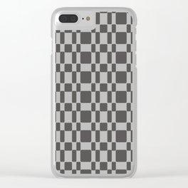 Retro 1950's Stitch Fabric Pattern Gray Clear iPhone Case