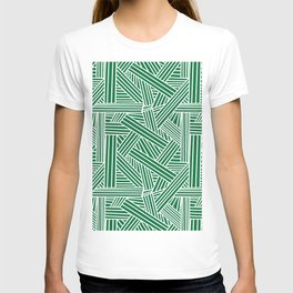 Sketchy Abstract (White & Olive Pattern) T-shirt